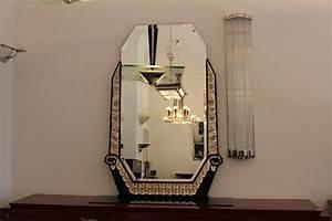 Spiegel Art Deco : ausgefallener spiegel in silber und schellack art d co annette stern art d co m bel lampen ~ Whattoseeinmadrid.com Haus und Dekorationen