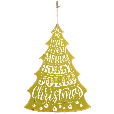 16 quot merry christmas tree sign apple green xwm6308
