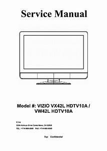 Vizio Vx42l Vw42l Hdtv10a Sm Service Manual Free Download