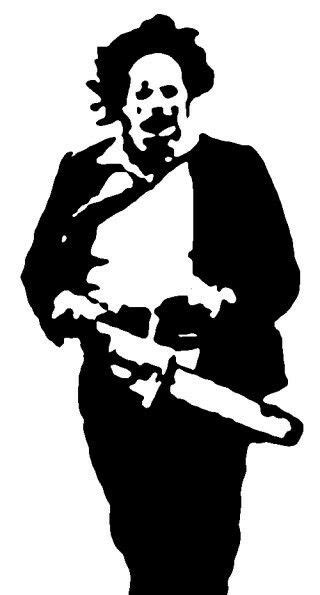 Pin by Bulbo Raquideo on favorytxxz in 2019 | Texas chainsaw massacre, Stencil art, Stencil