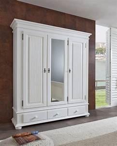 Massivholz Kleiderschrank Weiß : 3 trg kleiderschrank freiburg spiegel massivholz weiss ~ A.2002-acura-tl-radio.info Haus und Dekorationen