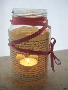 Windlichter Basteln Einmachgläser : windlicht aus buchseiten handmade kultur ~ A.2002-acura-tl-radio.info Haus und Dekorationen