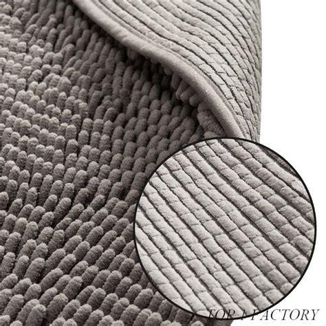 polyester microfiber chenille bath mat absorbent