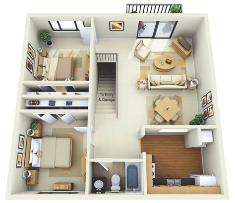 bedroom apartmenthouse plans architecture