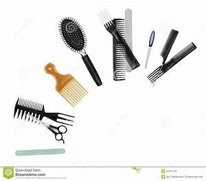 A Collection Of Tools For Professional Hair Stylist Stock ...