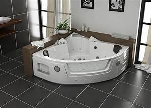 Baignoire Pour 2 : baignoire baln o d 39 angle 140x140 maeva baignoire baln o d ~ Edinachiropracticcenter.com Idées de Décoration