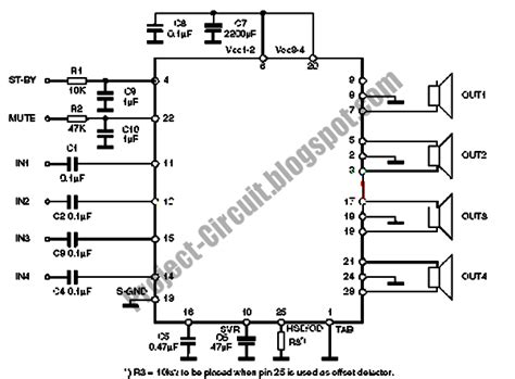 Tda7850 Car Power Amplifier