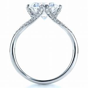 Diamond split shank engagement ring 1298 for Split shank engagement ring with wedding band