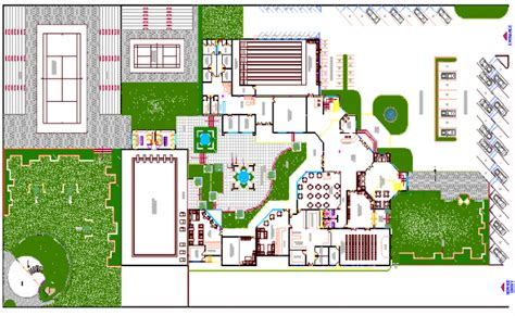 Club house site plan and club house architecture design ...
