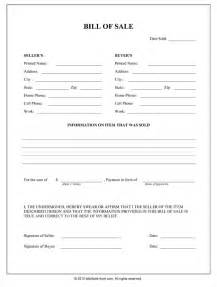 Sle Of A Bill Of Sale For An Automobile by Xewcxgbngrjy Illinois Bill Of Sale Form