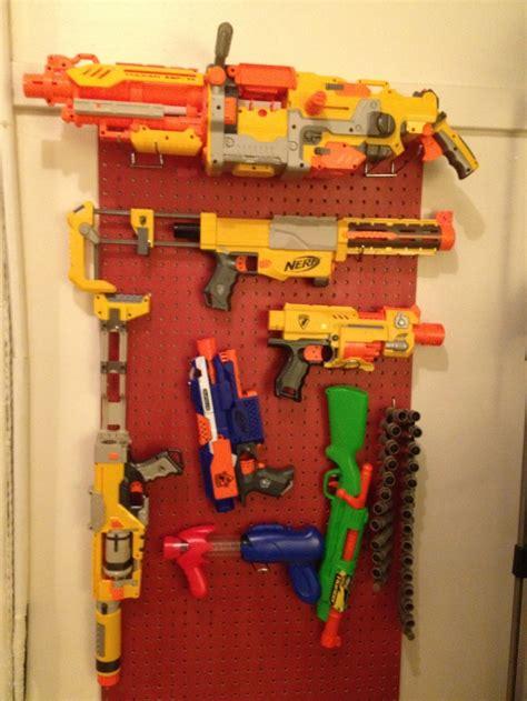 nerf gun rack 1000 images about nerf gun display on nerf