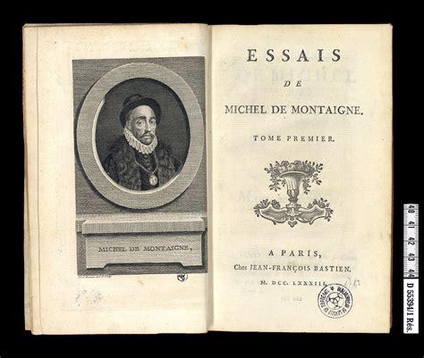 patrimoine des bibioth 232 ques d aquitaine essais de michel de montaigne
