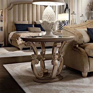 High, End, Art, Deco, Style, Round, Side, Table