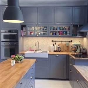 Cuisine Blanche Et Bois Ikea : nouvelle cuisine ikea bodbyn gris metod tendance ~ Dailycaller-alerts.com Idées de Décoration