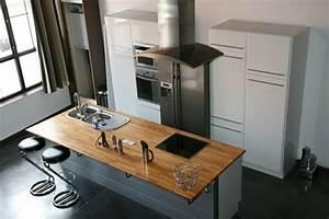 ilot central cuisine avec plaque cuisson cuisine en image With cuisine ilot central cuisson