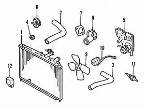 Mazda 626 Radiator  Radiator Assembly  Trans  Cooling  Manual