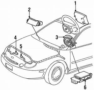 Ford Taurus Clockspring  Cover And Contact Pl  All Models