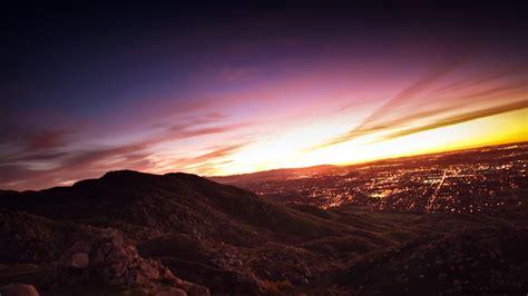 City mountain view wallpaper - High Definition, High ...
