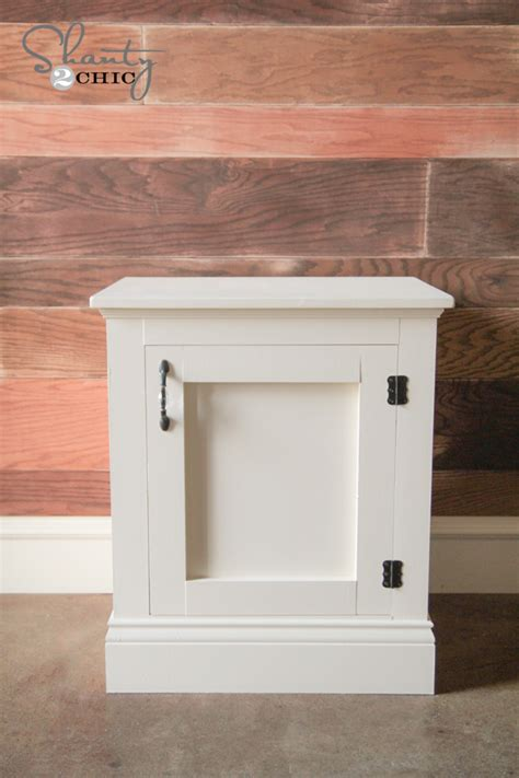 Nightstand Blueprints by White Panel Nightstands Diy Projects