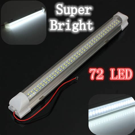 audew 12v universal car auto caravan interior 72 led white