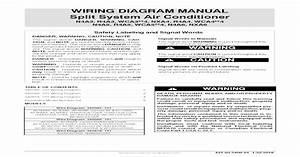 Wiring Diagram Manual Split System Air  Wiring Diagram