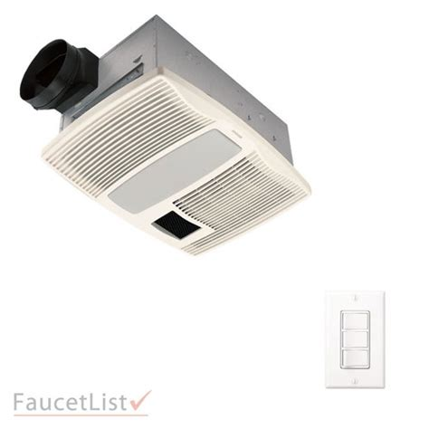 bathroom exhaust fan control switch broan qtx110hflt quiet exhaust fan with light heater 4