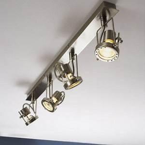 Rampe Led Cuisine : rampe 4 spots gu 10 4x42w acier technic inspire cuisine lighting ceiling lights et track ~ Melissatoandfro.com Idées de Décoration