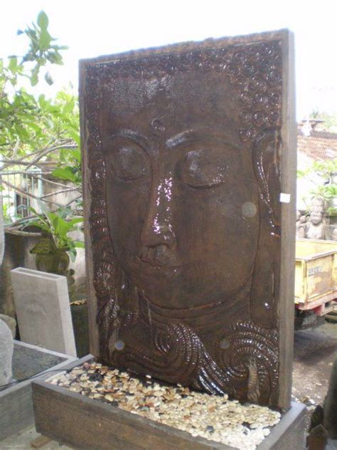 water feature fountain outdoor statue balinese buddha face