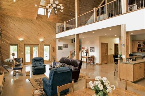 pole barn homes interior 345 best images about barndos on metal homes