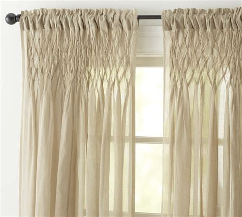 Pottery Barn Curtains Sheers by Smocked Drape