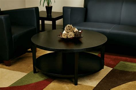 Buy premium black glass coffee tables. Colorfull rug and tray on round black coffee table decor for living room   Coffee table, Osp ...