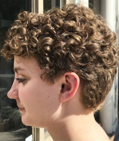 short curly haircut short hair   short wavy