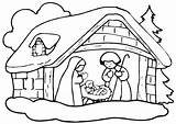 Crib Coloring Christmas Printable Pages sketch template