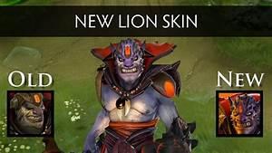 Dota 2 New Lion Head Side By Side Comparison YouTube