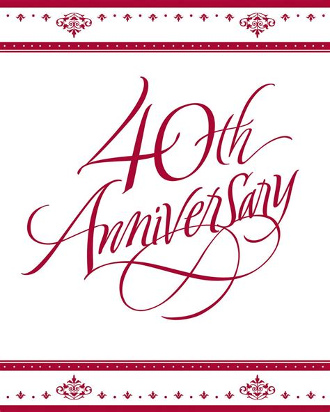 40th wedding anniversary latset happy 40th wedding anniversary party invitations decoration
