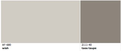 benjamin moore wish and taos taupe love this for