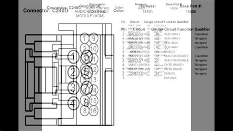 Lincoln L Wiring Diagram Free by 2009 Lincoln Navigator Stereo Wire Diagrams