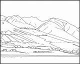 Coloring Mountain Pages Mountains Rocky Scene Maui Printable Pdf Lahaina Lady Colorings Clip Popular sketch template
