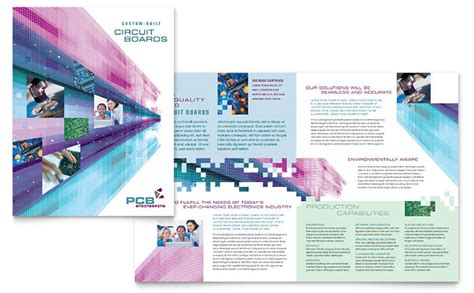 Free Indesign Templates Technology Company Brochures High Tech Manufacturing Brochure Template Design