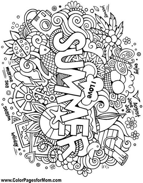 Kleurplaat Groep 8 Zomer by Summer Handlettering En Doodle Zomer Kleurplaten
