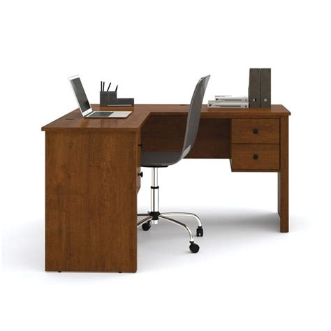 bestar l shaped desk bestar somerville l shaped desk in tuscany brown 45420 63