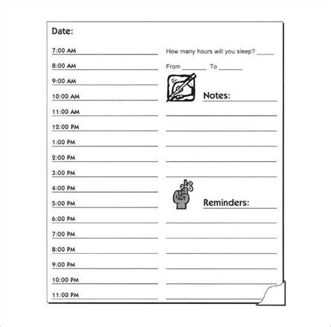 hourly schedule template   word excel