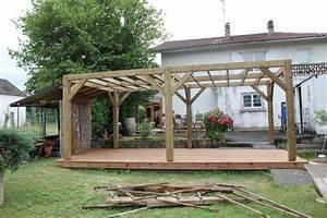 terrasse avec pergola bois zimerfreicom idees de With terrasse avec pergolas bois