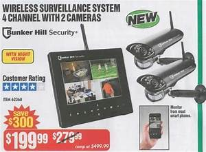 Harbor Freight Black Friday  Bunker Hill Security Wireless Surveillance System  4 Channel With 2