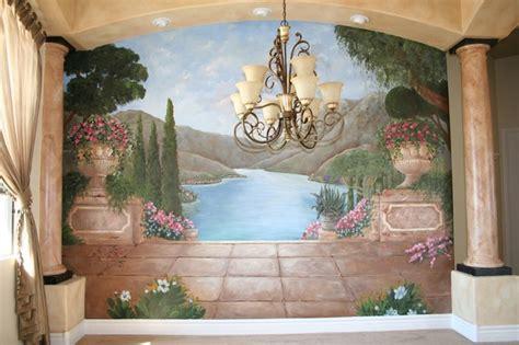 mediterranean  tuscan murals mediterranean dining