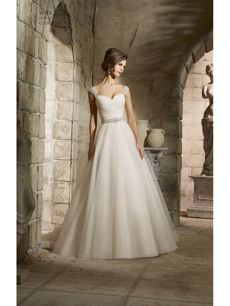 Mori Lee 5375 Draped Bodice Tulle Ball Gown Style Of