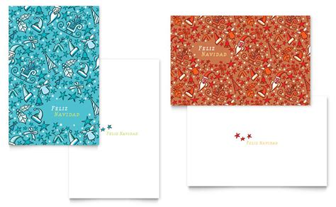 christmas confetti greeting card template word publisher