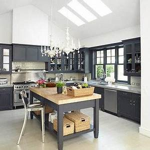 Charcoal gray cabinets design ideas for Kitchen colors with white cabinets with charcoal wall art