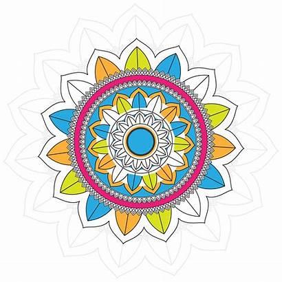 Mandala Colorful Modern Background Vector Vecteezy Clipart