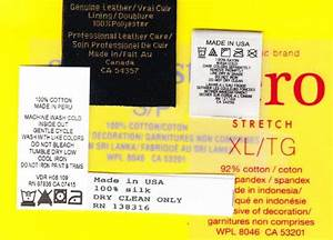 rn numbers and ca identification numbers on clothing labels With content labels for clothing
